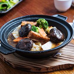 Stir fried mixed mushrooms with tofu thumbnail