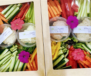 Raw vegetables and dip platter - serves 6 thumbnail