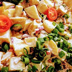 Creamy chicken and potato salad thumbnail