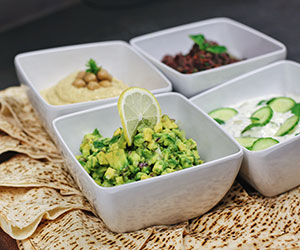 Three dips platter - serves 8 to 12 thumbnail