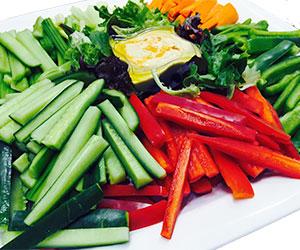 Vegetable crudites and dip platter thumbnail
