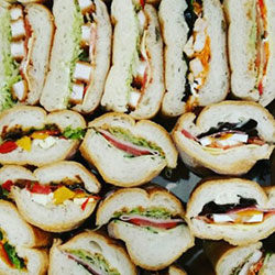 Mixed Turkish and baguette roll platter - serves 6 to 8 thumbnail