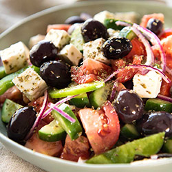 Greek salad with oregano dressing thumbnail