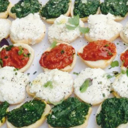 Crostinis with marinated chicken and sun dried tomato thumbnail