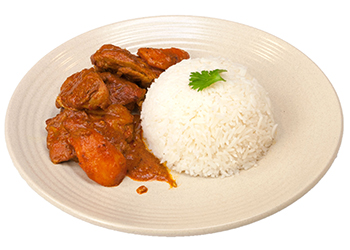 Chicken curry with jasmine rice thumbnail