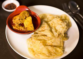 Chicken curry roti canai thumbnail