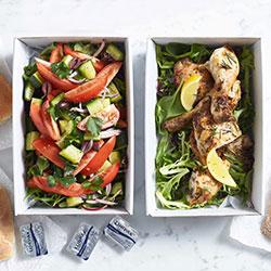 Greek style oven roast chicken platter thumbnail
