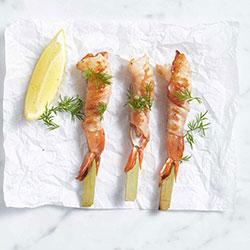 Proscuitto wrapped king prawn thumbnail