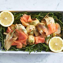 Smoked salmon and potato salad thumbnail