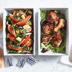 Tandoori roasted chicken platter thumbnail