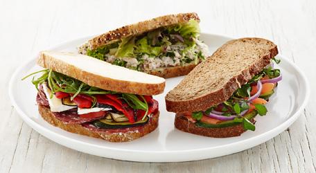 Rustic sourdough sandwiches thumbnail