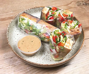 Tofu and Asian slaw rice paper roll thumbnail