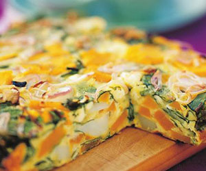Fritatta with pumpkin, spinach and feta - 150gm thumbnail