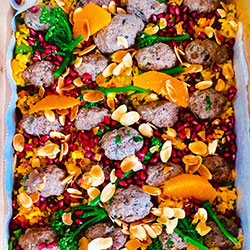 Lamb mint kofta with persian rice thumbnail