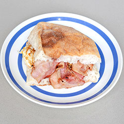 Bacon and egg English muffin - large thumbnail
