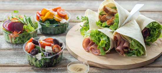 Flatbread wrap and salad package thumbnail