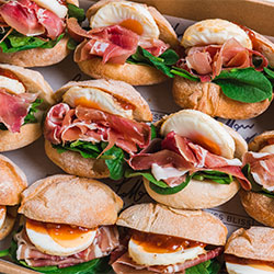 Egg and prosciutto slider thumbnail