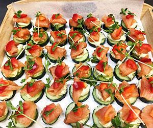 Smoked salmon creamed avocado roulade thumbnail