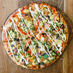 Veggie smuggler pizza thumbnail