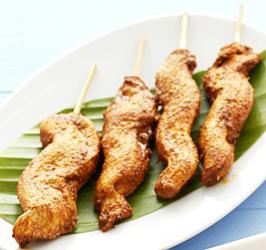 Gluten free satay chicken skewers thumbnail