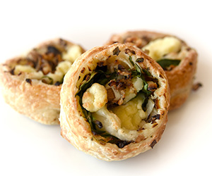 Spinach, mushroom and feta scroll - mini thumbnail