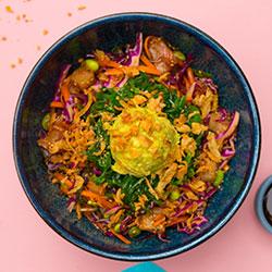 Shoyu kingfish poke bowl thumbnail