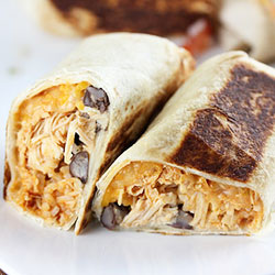 Chipotle chicken burritos - 500g thumbnail