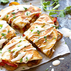 Mexican pizza Quesadillas in a box thumbnail