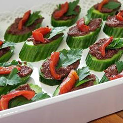 Olive and cuke canapes thumbnail