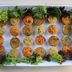 Assorted savoury frittatas - mini - serves 3 thumbnail