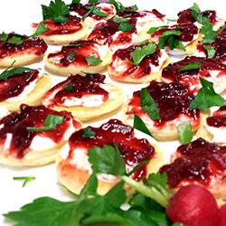 Beetroot and balsamic blinis thumbnail