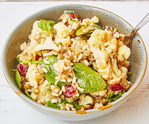 Caramelised cauliflower and brown rice salad thumbnail