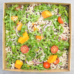 Black and brown rice, asparagus and pumpkin salad thumbnail