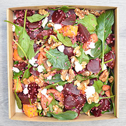 Roast pumpkin, beetroot, quinoa and goat cheese thumbnail