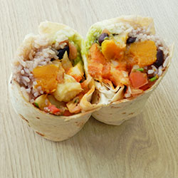 Roast vegetables burrito thumbnail