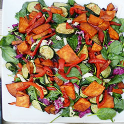 Sweet potato and spinach salad thumbnail