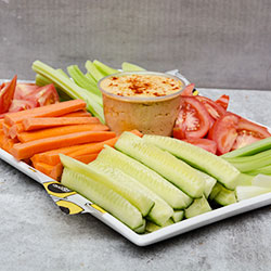 Vege sticks and hommus dip platter thumbnail
