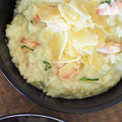 Creamy garlic prawn risotto thumbnail