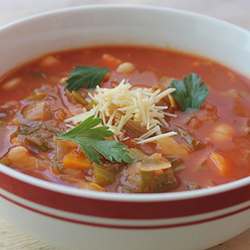 Vegetable and cannellini bean minestrone soup thumbnail