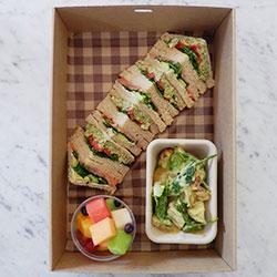Sandwich, salad and fruit salad thumbnail