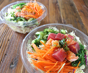 Salmon and tuna poke bowl thumbnail