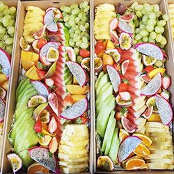 Seasonal sliced fruit platter thumbnail