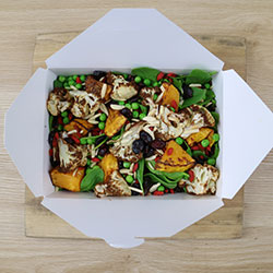 Blackened cauliflower florets with wild rice and roasted pumpkin thumbnail