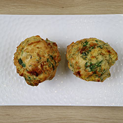 Fetta, sweet corn, semi dried tomato and rosemary savoury muffin thumbnail