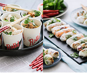 Mini bowls and mini rice paper rolls - serves up to 8 thumbnail