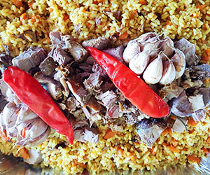 Uzbek Plov lunch box - our signature dish thumbnail
