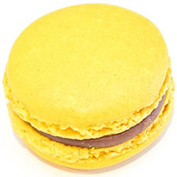 Passionfruit and milk chocolate macaron thumbnail