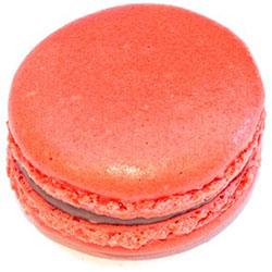 Raspberry, rose and milk chocolate macaron thumbnail