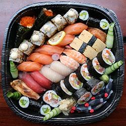 Mixed sushi large platter - serves 6 thumbnail