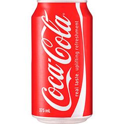 Coca Cola soft drink - cans - 375ml thumbnail